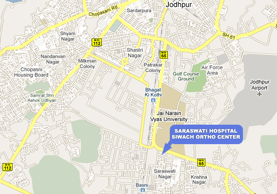 map of saraswati hospital jodhpur